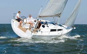 Hanse 315 op zee